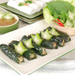 Vietnamese cuisine - spring rolls — Stock Photo