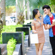 Young Asian couple  in outdoor — Foto de Stock