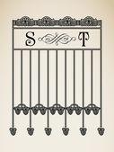 Vektor vintage prydnads bokstaven s t tecken alfabetet och logotypen art déco-ramar — Stockvektor