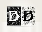 Vektör süs mektup b işareti alfabesi — Stok Vektör