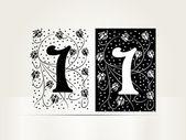 Vector ornamental carta firmo alfabeto — Vector de stock