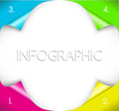 Infographic design with paper corner on the background. Vector illustration — Wektor stockowy