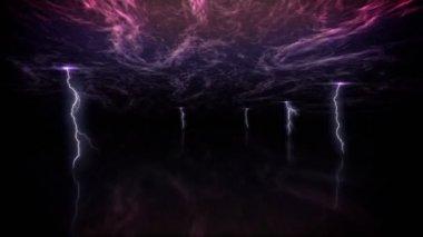 молния армагеддон петля — Стоковое видео