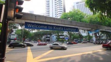 Kuala Lumpur monorail — Stock Video