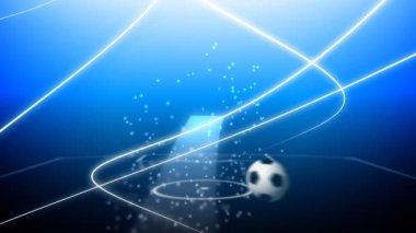 Flying soccer ball — Stock Video