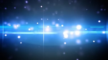 Particles and optical flares blue loop — Vídeo de stock