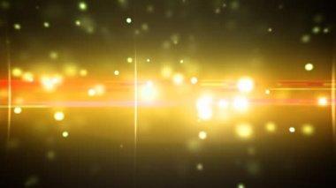 Partículas e flares óptica ouro laço — Vídeo Stock