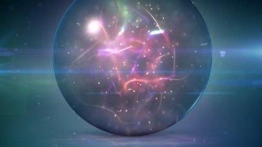 магический шар петля — Стоковое видео