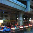 Stock Video: Bangkok traffic time lapse