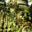 Stock Video: Angkor faces time lapse loop