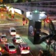 City traffic lights time lapse — Stock Video