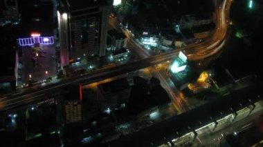 Bangkok traffic zoom 2 time lapse — Stock Video