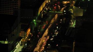 Tráfico de bangkok zoom 3 lapso — Vídeo de stock