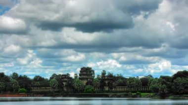 Angkor Wat temple time lapse loop — Stock Video