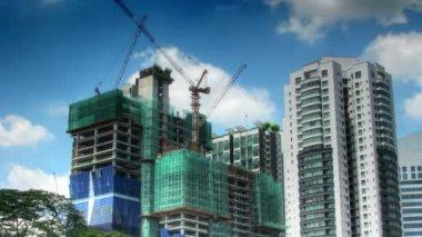 Lapso de tempo de atividade de construção — Vídeo stock