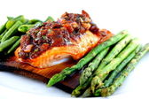 Cedar Planked Salmon — Stock Photo