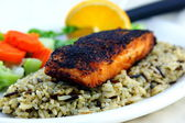 Blackened Salmon — Stock Photo