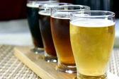 Vzorkovník řemesla pivo — Stock fotografie