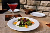 Beet Salad with Beet Vodka Martini — Stock Photo