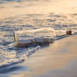 Message in a Bottle st Sunset — Stock Photo