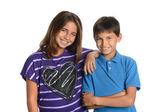 Jongen en meisje broers en zussen — Stockfoto
