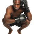African American Fighter — Stock Photo