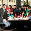 Diverse Group of Students Interacting — Stock Photo