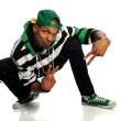 African American Hip Hop Man Dancing - Stock Photo