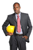 Businessman With Hardhat — Stock Photo