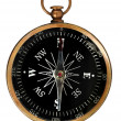 Vintage Compass With Clipping Path — Stock Photo #13390900