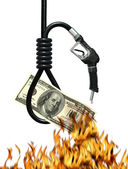 Cost of Oil Metaphor — Stock Photo