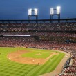 Постер, плакат: Busch Stadium at Night