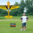 RC Pilot Flying Plane — Stock Photo #13519382