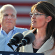 Sarah Paling Giving Speach — Stock Photo