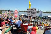 Tea Party Rally in Saint Louis Missouri — Stock Photo