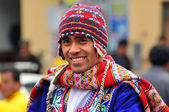 Portrait of Quechua Man — Stock Photo