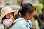 Mother and Child in Peru — Stock Photo