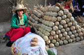 Woman Selling Sugar Cane Products — Stock Photo
