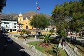 Plaza de armas v cajabamba, peru — Stock fotografie