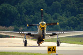 P-51 Mustang Taxiing — Stock Photo