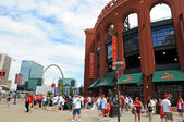 Busch Stadium and The Arch — Stock Photo