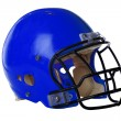 Blue Football Helmet — Stockfoto