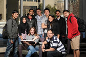 Groupe diversifié d'étudiants — Photo
