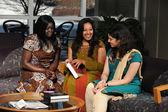 Female Students in Ethnic Clothing — Stock Photo