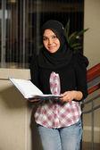 Müslüman öğrenci portresi — Stok fotoğraf