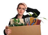 Frau verärgert nach job zu verlieren — Stockfoto