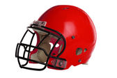 Red Football Helmet — Stock Photo