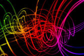 Waves of Light Over Dark Background — Stock Photo