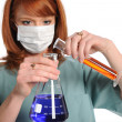 Lab Technitian Mixing Chemicals — Stock Photo