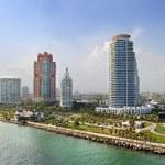Aerial View of South Miami Beach — Stock Photo